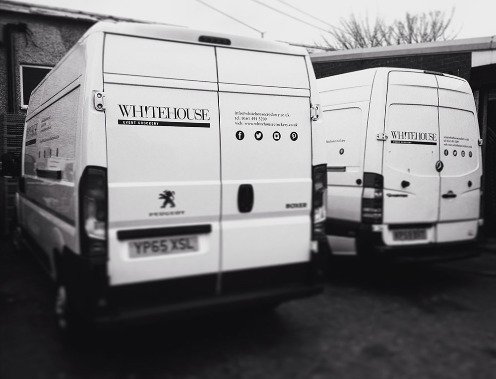 WHITEHOUSE CROCKERY EVENT DELIVERIES